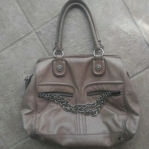 Pollini Genuine Lamb Leather Chain Tote from Italy
